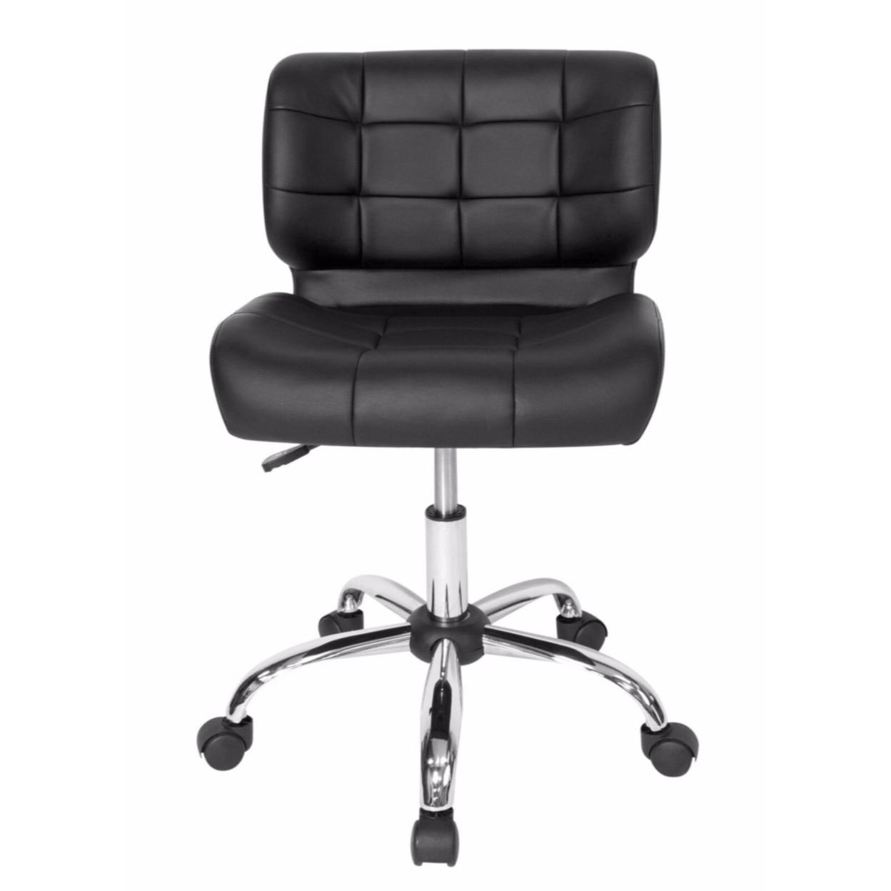 Studio Designs Home Office Black Crest Office Chair - Chrome/Black studio designs home office maxima ii drafting chair black