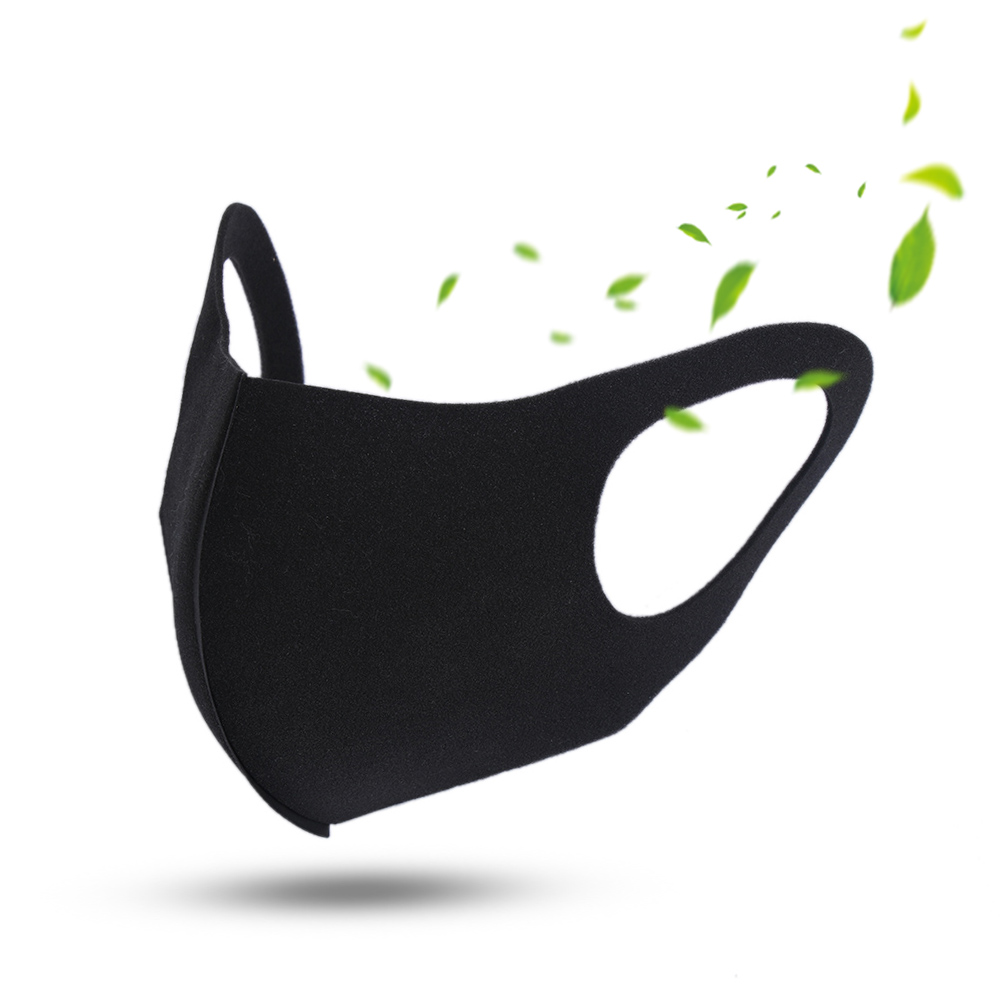 1/3Pcs Mouth Mask PM2.5 Anti Haze Black Dust Mask Nose Filter Windproof Face Muffle Bacteria Fabric Cloth Respirator Mouth Masks