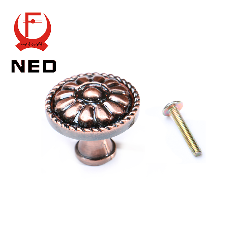 Ned rb6618 retro red bronze kitchen cabinet knobs door - Red kitchen cabinet knobs ...