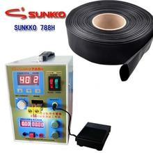 Sunkko 788 H Batterie Punktschweißgerät Led-beleuchtung Wig-impulsschweißen Maschine für 18650 Ladegerät + 5 Mt * 0,5mm schrumpfschlauch 110 V 220 V