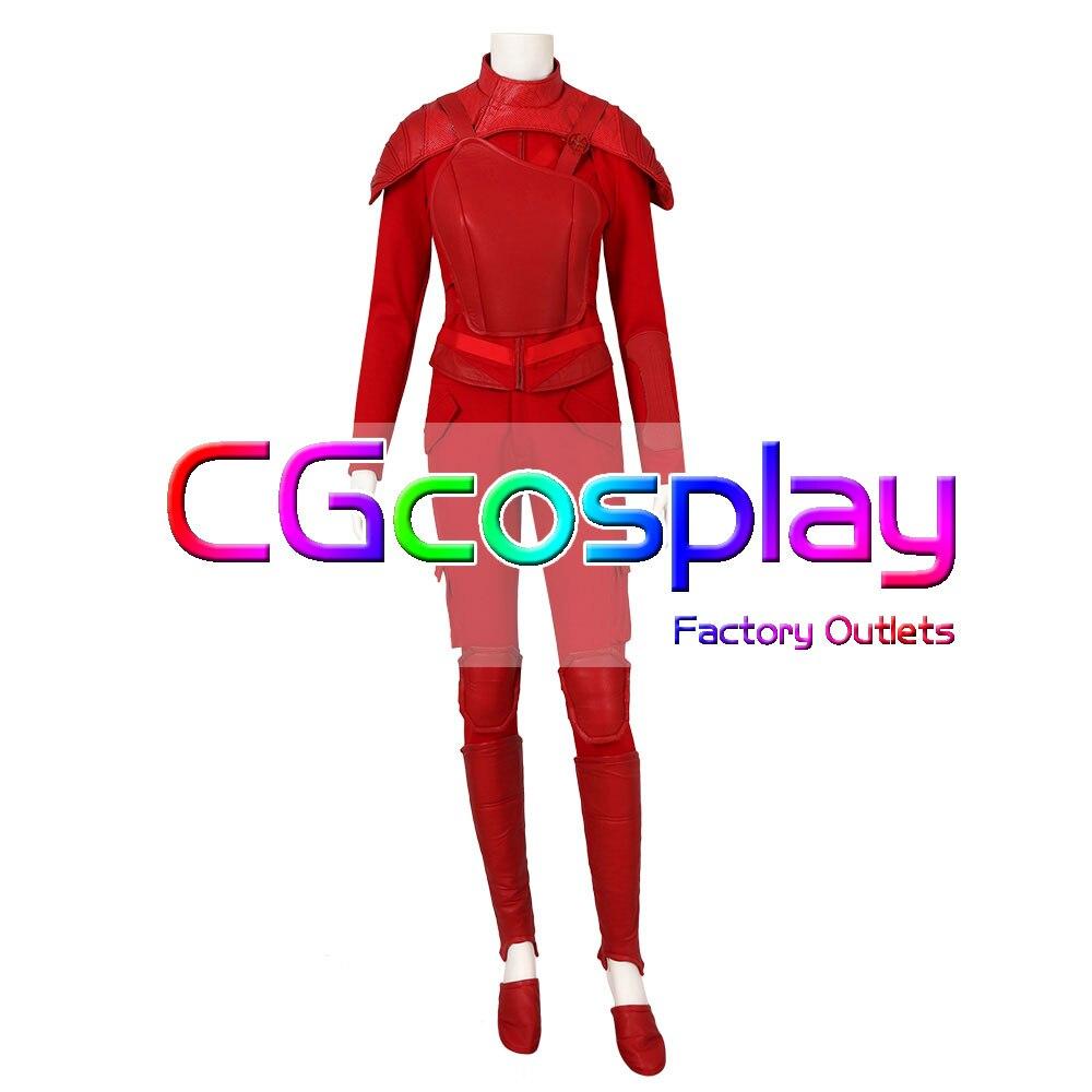 CGCOS экспресс доставка Голодные игры часть 2 Китнисс Эвердин равномерное игра Косплэй костюм равномерное Helloween