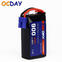 1pcs OCDAY 7.4V 900mAh 25C 2S1P 6.66WH LIPO Batery with EC2 Plug for Walkera F15