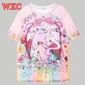 Unicorn Monster Women T Shirt Harajuku Shirt Kawaii Summer Tops Tee Cute Casual Lolita Camisa Anime Feminina T Shirt Trend WXC