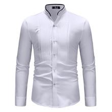 เสื้อเชิ้ตผู้ชายแขนยาวผ้าฝ้ายแฟชั่นคอนทราสต์สีเรียบง่ายขอบคอเสื้อผู้ชายสบายๆแขนยาวเสื้อ ZT CS61