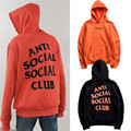 ANTI SOCIAL SOCIAL CLUB Hoodie Women Men 1:1 Undefeated men hoodies orange and black high quality sweatshirts Pullover