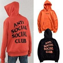 Anti sozialen social club hoodie frauen männer 1:1 ungeschlagen männer hoodies orange und schwarz qualität sweatshirts pullover