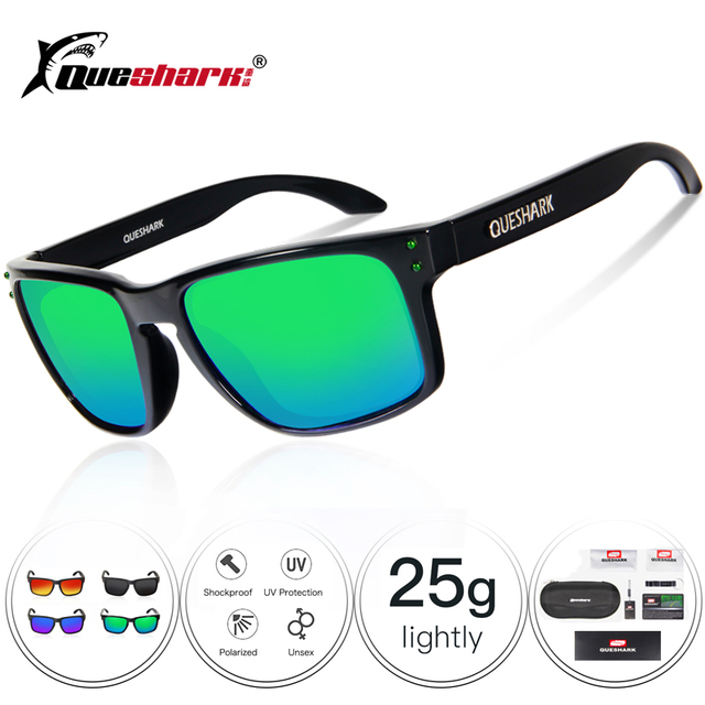 981dfefbb6 Queshark UV400 TR90 polarizadas gafas de ciclismo bicicleta lentes de gafas  de sol 29G de las mujeres de los hombres ciclismo gafas de sol