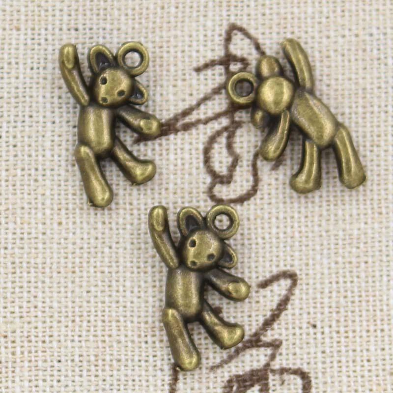 10pcs Charms Bear 19x10mm Antique,Zinc Alloy Pendant Fit,Vintage Tibetan Bronze Silver,DIY For Handmade Jewelry