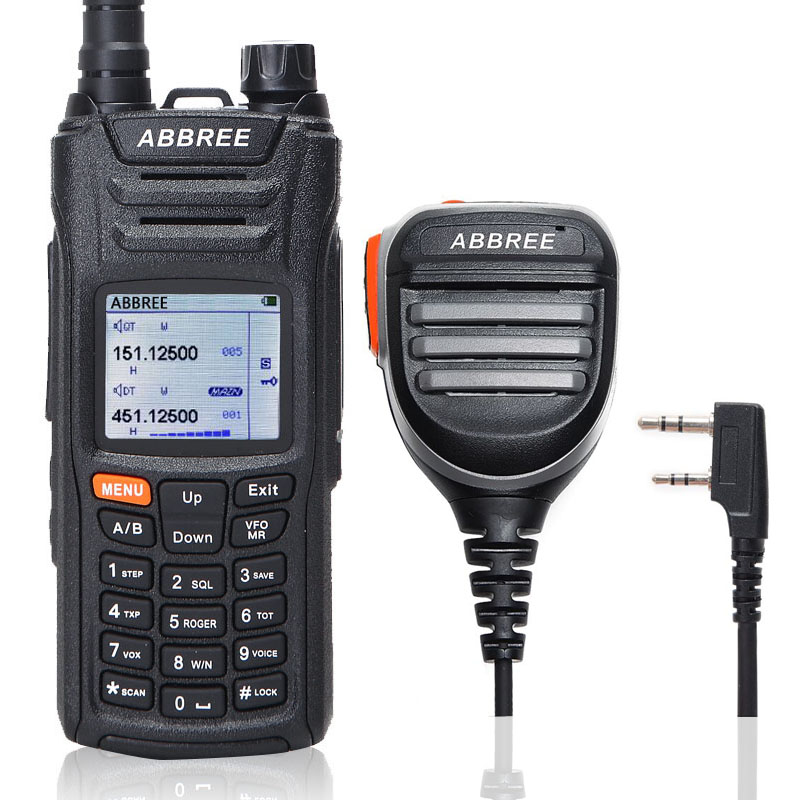 ABBREE AR F6 Walkie Talkie 6 แถบ Dual จอแสดงผล 999CH VOX DTMF SOS การสแกนนาฬิกาจับเวลาอเนกประสงค์จอแสดงผล LCD สี + ลำโพง mic-ใน วิทยุสื่อสาร จาก โทรศัพท์มือถือและการสื่อสารระยะไกล บน AliExpress - 11.11_สิบเอ็ด สิบเอ็ดวันคนโสด 1
