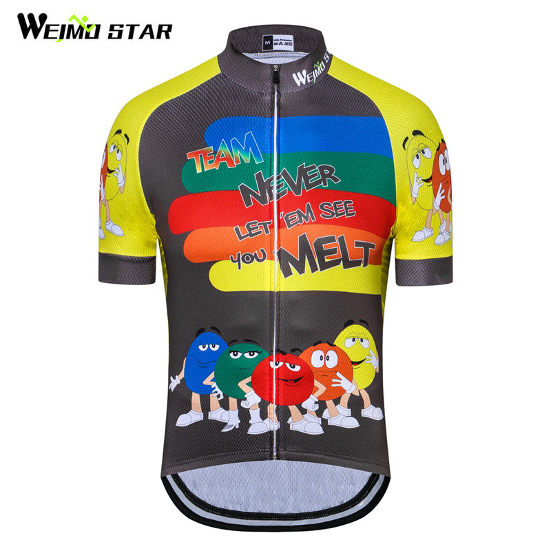 WEIMOSTAR Men USA Cycling Jersey Bike Short Sleeve Summer Bicycle Clothing S-5XL