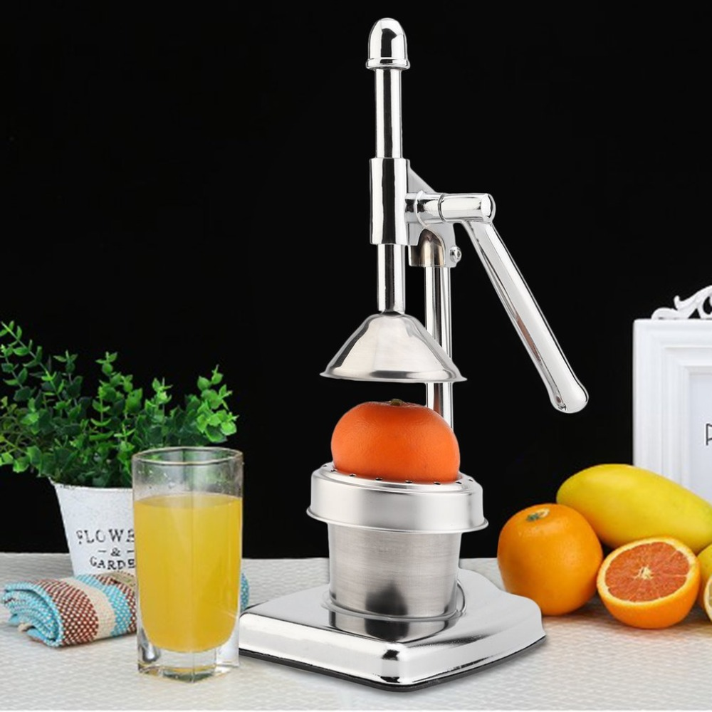 Manual Hand Juice Squeezer Stainless Steel Fruit Extractor Citrus Lemon Pressing Machine Household Orange Juicer J25C28 electric orange fruit juicer machine blender extractor lemon juice