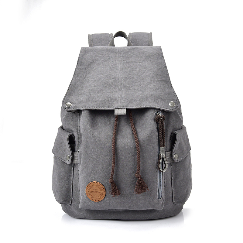 Fashion Women 15 Inch Laptop Backpack Drawstring Large Casual Canvas Travel Backpack Men Leisure School Bags For Girls Boys 1382 2016 newest wave fashion backpack women casual dackpacks backpack school leisure travel school bags women s shoulder bags bolsos