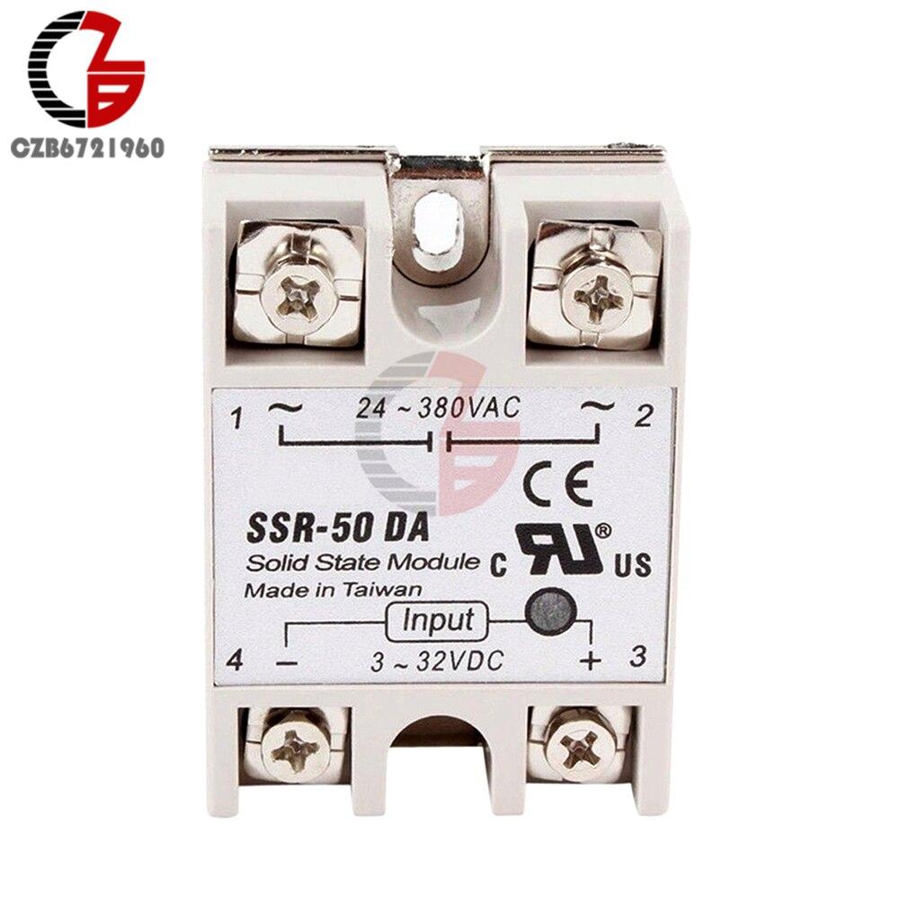 10 Pcs Gj 3 L Dc Ac Pcb Ssr In 32vdc Out 0 380v 3a Solid State Relay Switch 50da 50a 32v To 24