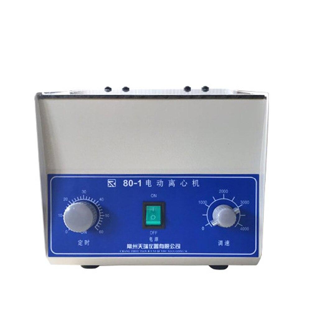 80-1 elétrica Medical Lab Centrífuga separação do plasma ajustável a função de temporização bolha de Separação Centrífuga De Laboratório
