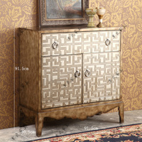 European style neoclassical modern retro furniture for old solid wood garden side cabinets