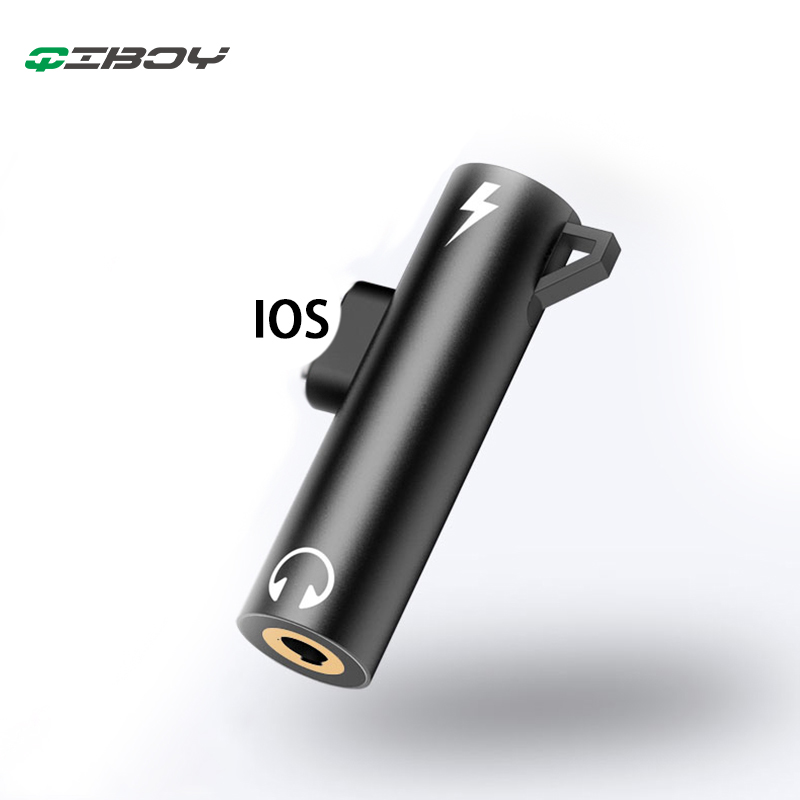 For Lightning To 3.5mm Jack Earphone AUX Audio Charge Adapter Converter For Iphone X 8 Plus XS OTG Headphone Adaptador Splitter