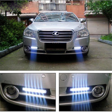 Hot sale 8 LED DRL Daylight Head Lamp Super White 12V DC Car Daytime Running Light 2PCS