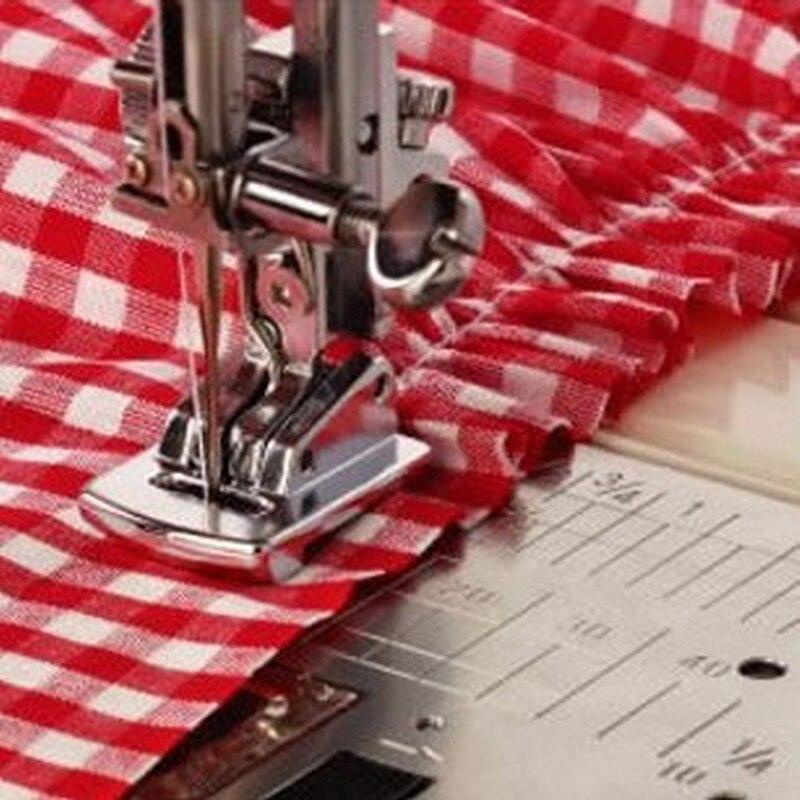 1PC Sliver Rolled Hem Curling Sewing Presser Foot For Sewing Machine Singer Janome