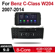 Android 9.0 Octa Core 4GB RAM Car DVD for Mercedes Benz C-Class W204 C200 2007~2014 NTG GPS Navi MAP Multimedia player system цена
