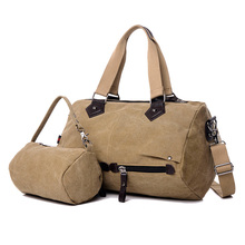 Travel Bag Vintage Canvas Men Women Large Capacity Carry on Duffel bag Weekend Travel Tote Multifunctional Luggage bags N474