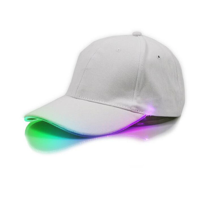 afbef34caf4 2018 New LED Light Cap Hat T Valor Baseball Cap for Women Mens Fitted Hats  Glow In The Dark Novelty Adjustable Solid Hats