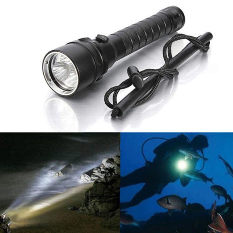 ФОТО Diver Lamp 100M Underwater 6000LM 3x XM-L T6 LED Scuba Diving Flashlight Torch Waterproof LED Flash Light Lantern