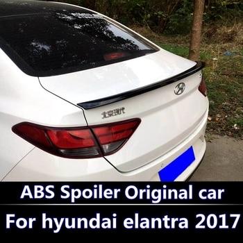 Hyundai elantra 2017-2018 spoiler 용 elantra modified spoiler 용 고품질 abs 플라스틱 도색되지 않은 프라이머 뒷 트렁크 스포일러