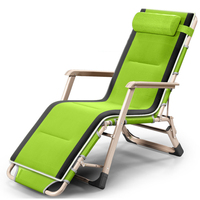 Outdoor Or Indoor Adjustable Nap Recliner Chair Folding Deck Chair Beach Chair With Steel Pipe Frame