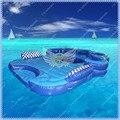 Горячие Продажи Коммерческих Надувные Плавучий Остров, Надувной Бассейн Плавать Summer Fun с Бесплатный большой Воздуходувки