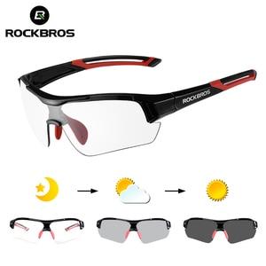Image 1 - ROCKBROS Photochromic Cycling Glasses Bicycle Outdoor Sports Sunglasses Discoloration Glasses MTB Road Bike Goggles Bike Eyewear