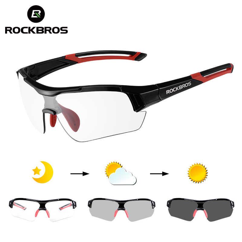 ROCKBROS fotochromowe okulary rowerowe rowerowe okulary przeciwsłoneczne sportowe przebarwienia okulary MTB drogowe okulary motocyklowe okulary