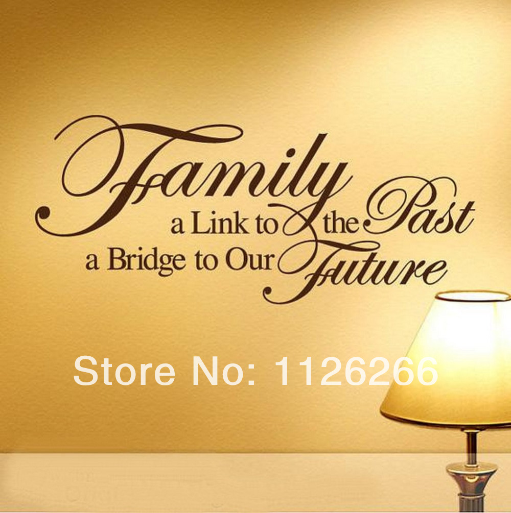 Family a bridge to our future vinyl wall stickers art home room family a bridge to our future vinyl wall stickers art home room decor spiritual quotes wall decals for living room bedroom in underwear from mother kids amipublicfo Images