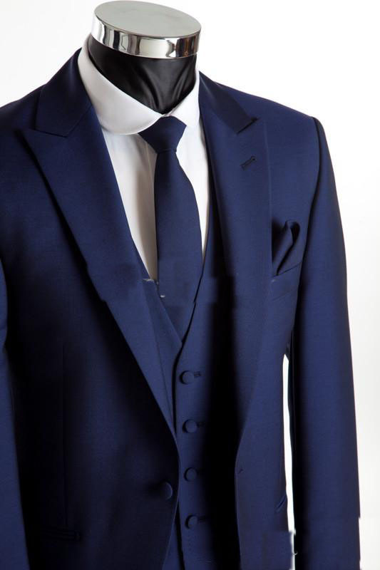 Online Shop Free shipping navy blue Groom suit morning coat ...