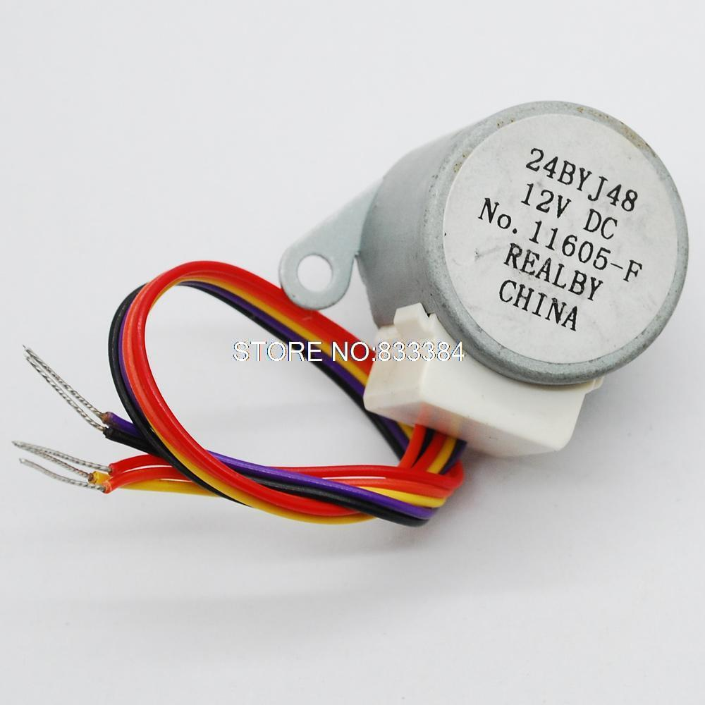 10 шт. четырехфазный пятипроводная 24BYJ48 12 V Шаг тактовый шаговый двигатель