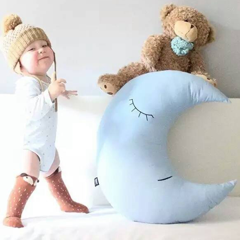 ФОТО 70*70cm Wholesale Blue Moon Plush Toys Baby Bed Home decorate At Home Pillow Cushion moon Cloth Doll baby doll birthday gift