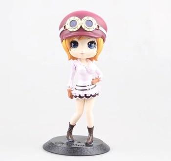 QPosket Cute Big eyes Anime One Piece Nami & Koala Lovely Dolls Figure Model Toys 14cm for girl