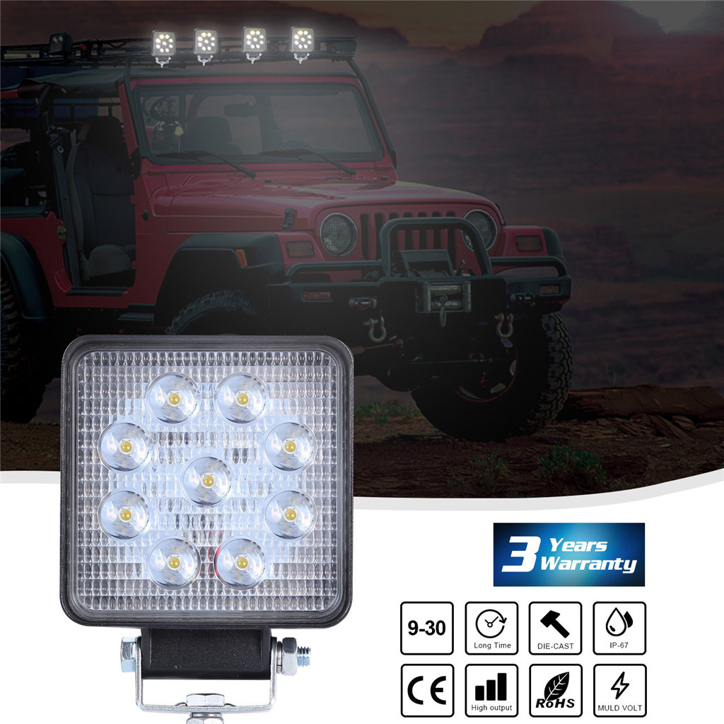 Image 2 - Luces Led Para Auto 2x LED Lamps For Cars LED Work Light Pods 4 Inch 90W Square Spot Beam Offroad Driving Light Bar-in Light Bar/Work Light from Automobiles & Motorcycles