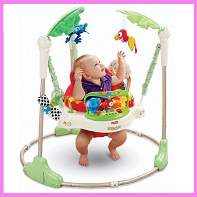 Cool Multifunctional Electric Baby Jumping Walker Cradle Rainforest Baby Swing Body building Rocking Chair Lucky Child For Your Plan - Latest baby bouncer walker Top Design