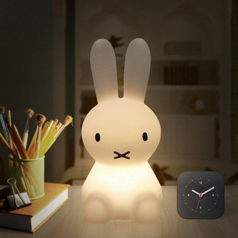 H28CM Dimmbare Bunny Kaninchen Lampe Led Nacht Licht USB für Kinder Baby Kinder Geschenk Tier Cartoon Wohnzimmer Dekoration