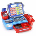 Pretend Play Props For Kids Toy Cash Register WIth A REAL Calculator And Toy Vegetable And Coins