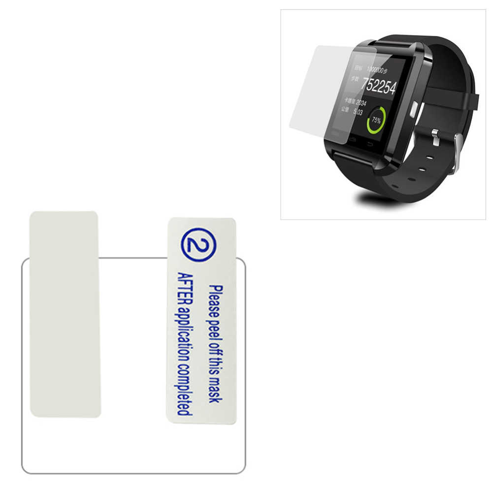 Ultrathin โปร่งใส Anti-Scratch ป้องกันหน้าจอ PET สำหรับ U8 สมาร์ทนาฬิกาสมาร์ทคุณภาพสูงอุปกรณ์เสริมอิเล็กทรอนิกส์