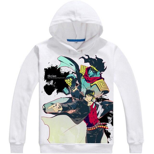 Kujo Jotaro Star Platinum Mens Hoodies JoJo's Bizarre Adventure Men Sweatshirt Streetwear Anime Hoodie Printed Long Hooded 2