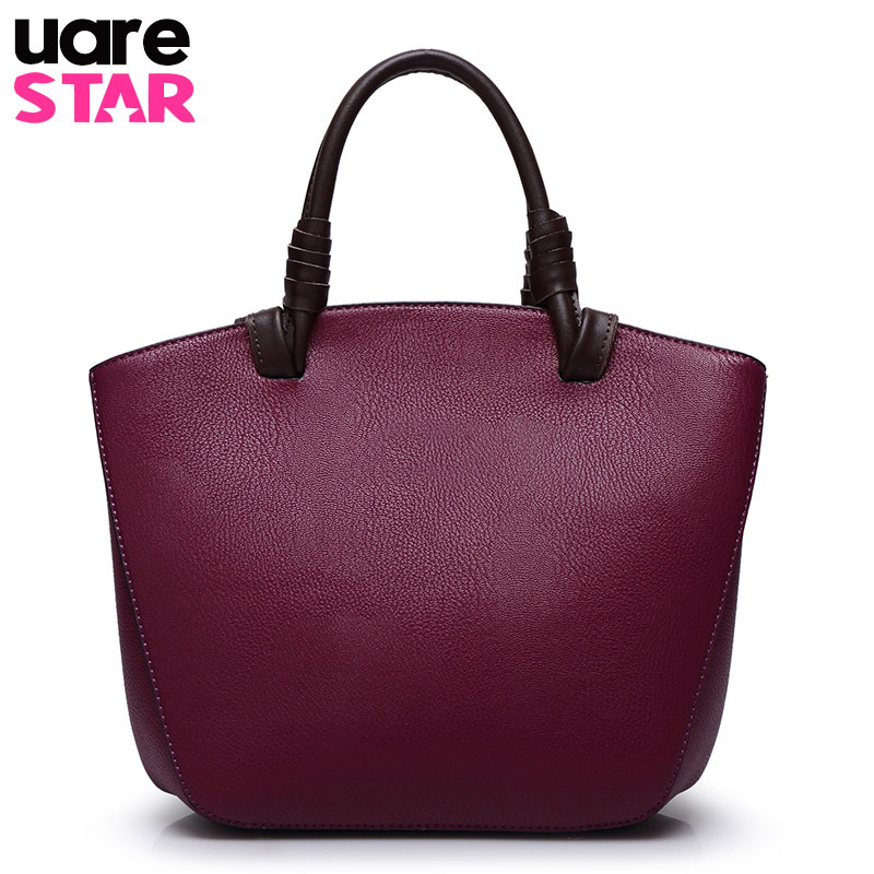 Women genuine leather handbags vintage designer handbags high quality shoulder b