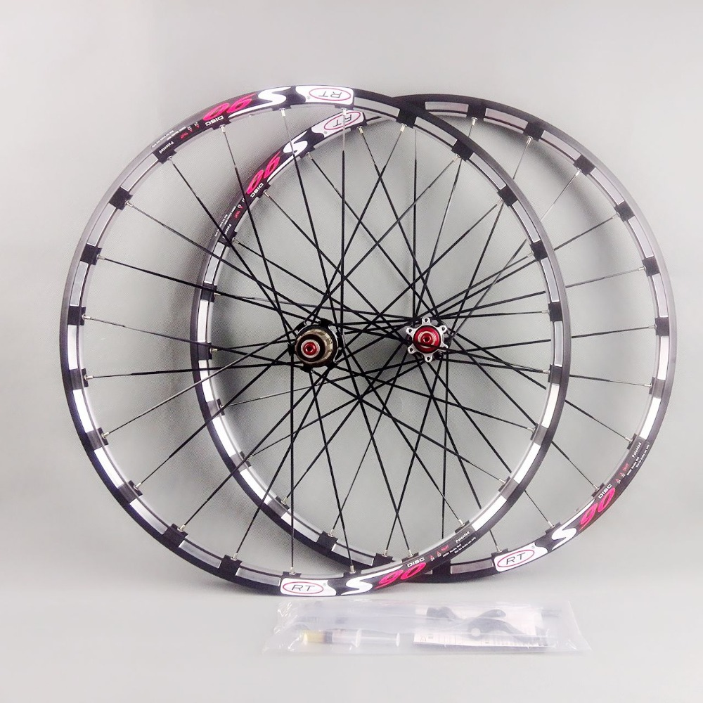 2017 newest mountain bike bicycle Milling trilateral <font><b>RT</b></font> front 2 rear 5 bearing japan hub super smooth wheel <font><b>wheelset</b></font> Rim Rims image
