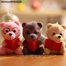 HANDANWEIRAN 1PCS Korean Bear Plush Toy Small Pendant Creative Company Activities Kids Cute Stuffed Toys Gifts 12CM