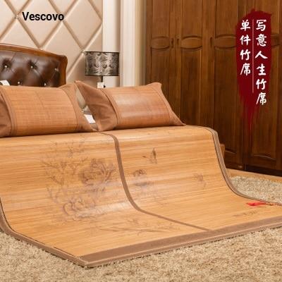 Chinese Printing 1.5/1.8 Bamboo Mat 100% Natural Bamboo Manufacturing, Natural Comfort Summer Mattress