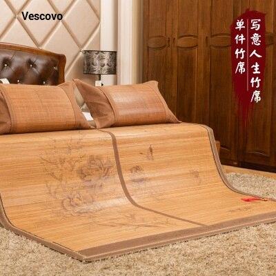 Natürlichen Komfort Sommer Matratze Um Eine Reibungslose üBertragung Zu GewäHrleisten Schlafzimmer Möbel Matratzen Chinesischen Druck 1,5/1,8 Bambusmatte 100% Natürliche Bambus Herstellung