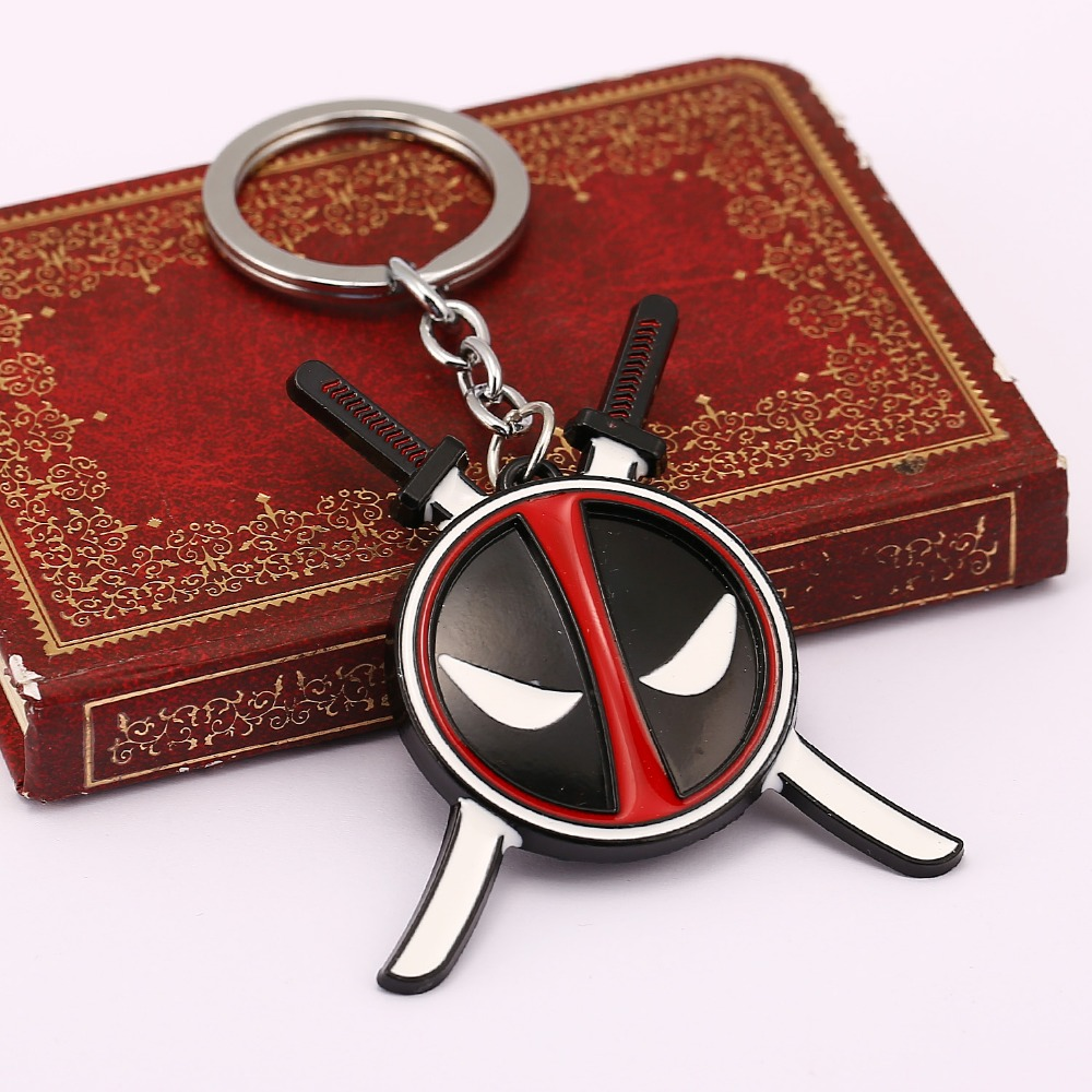 2 Colors Superhero Deadpool Mask Keychain Fashion Superhero Jewelry For Fans Women Anime Keychain Holder Wholesale&Retail