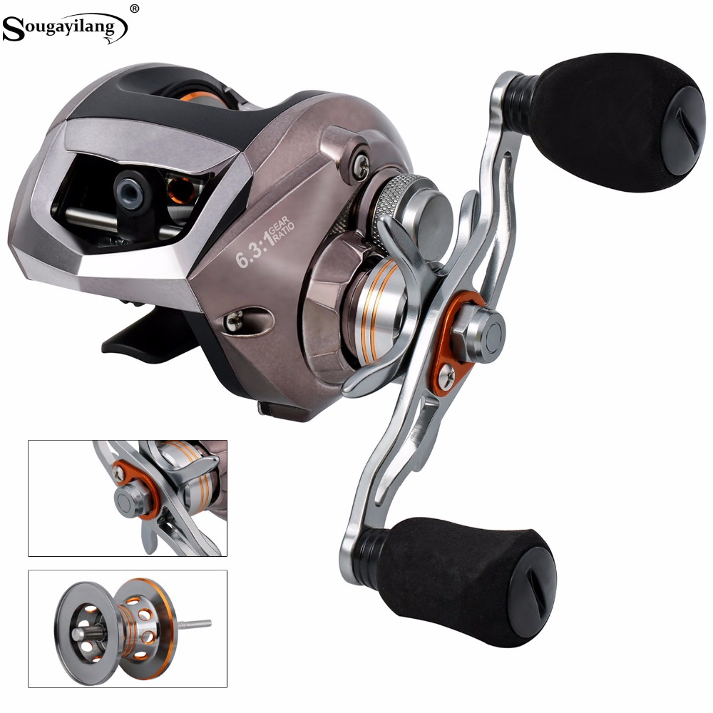 Sougayilang Baitcasting Reels 18+1BB Carp Fishing Reel Left/Right Hand Bait Carbon Fiber Casting Fishing Reel Fishing Tackle