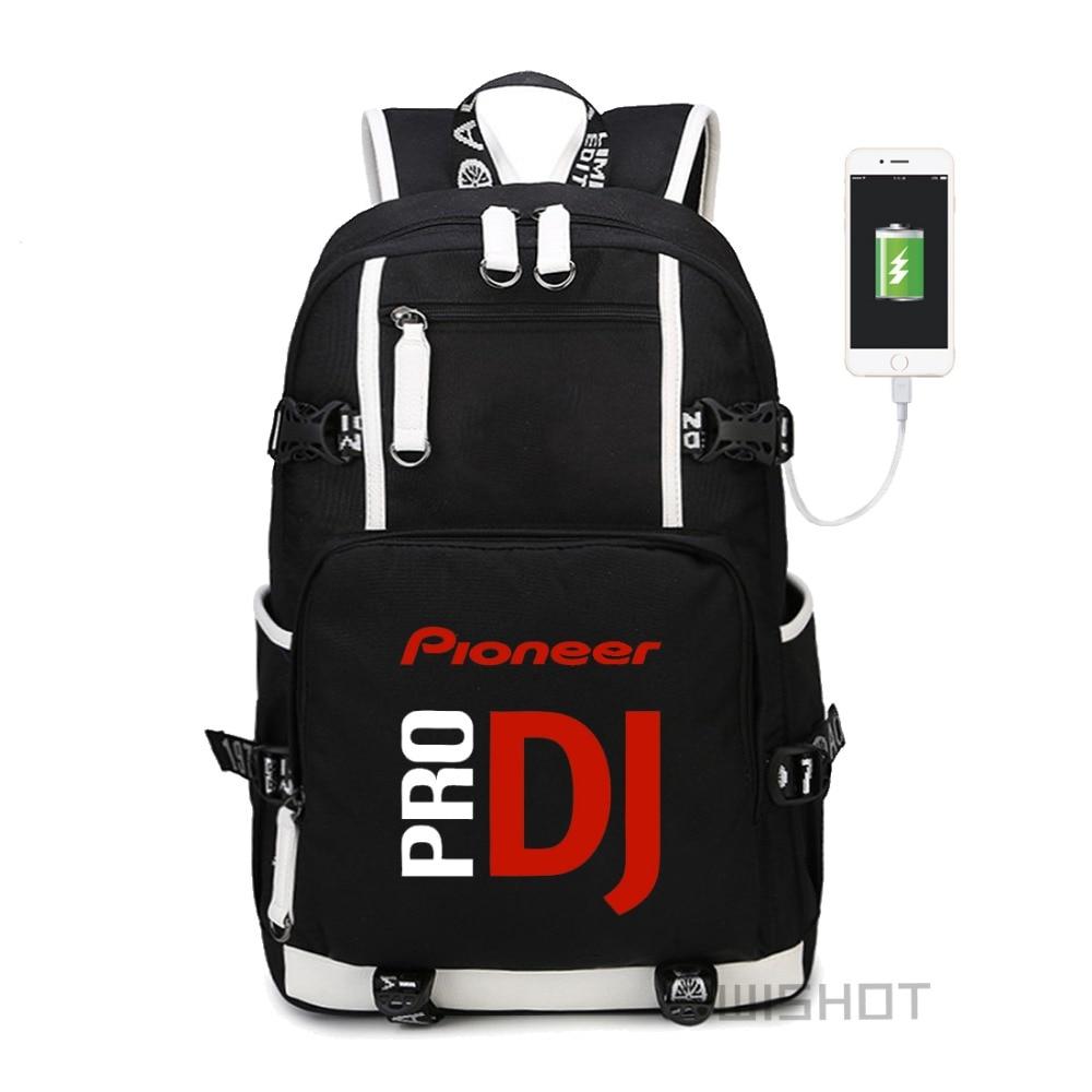 Wishot  Pioneer Dj Pro Backpack Shoulder Travel School Bag  For Teenagers  With Usb Charging  Laptop Bags #3